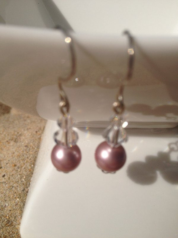 Prink Swarovski Crystal Earrings