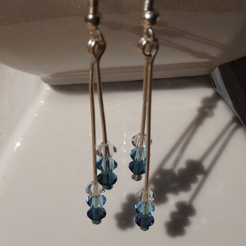 Blue Swarovski Crystal Earrings