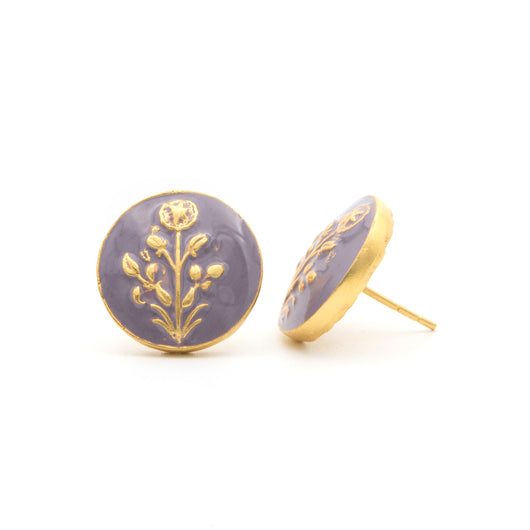 Hisbiscus Lavender Earrings