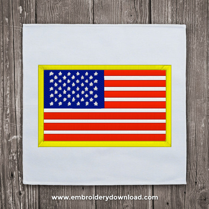 America flag embroidery design