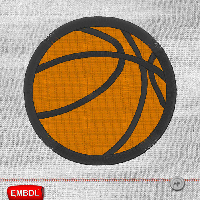 Basketball Ball - Embroidery design download
