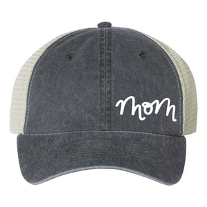 """MOM BALL CAP"" IN VINTAGE CHARCOAL - Grins & Grace"