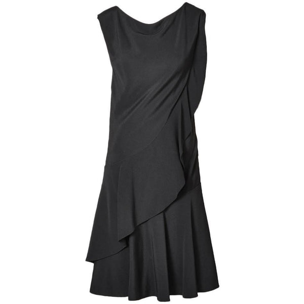 Galanos Silk Crepe Cocktail Dress