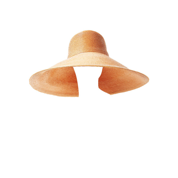 Galanos Glazed Straw Sun Hat