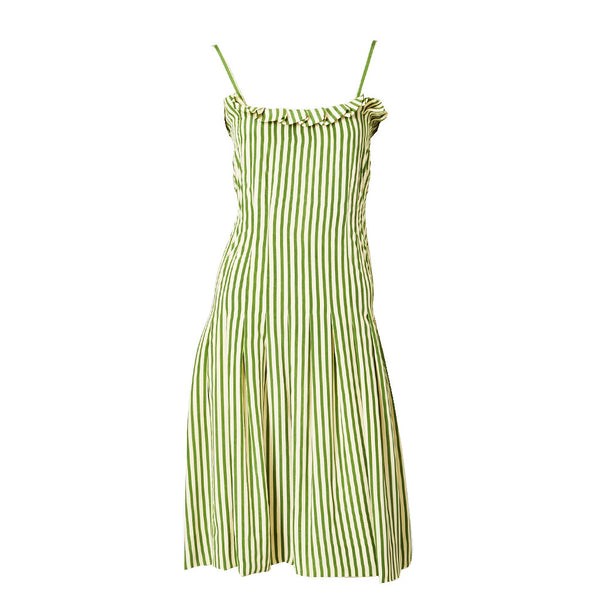 Galanos Silk Stripe Sun Dress