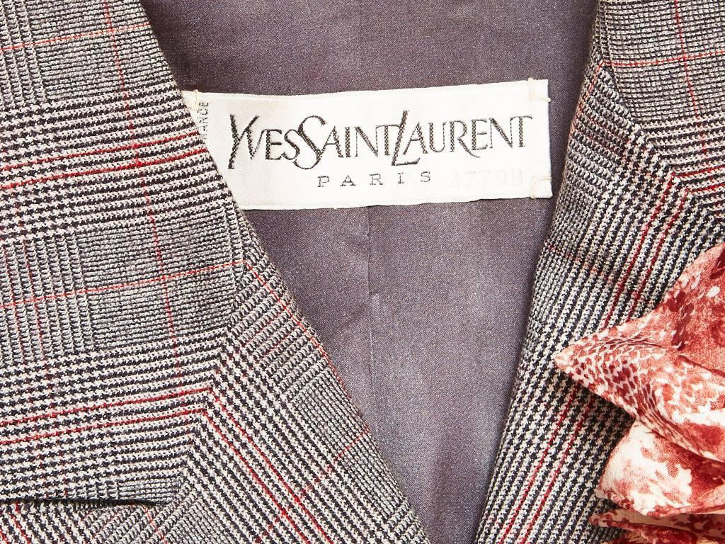Yves Saint Laurent Three Piece Couture Skirt Suit