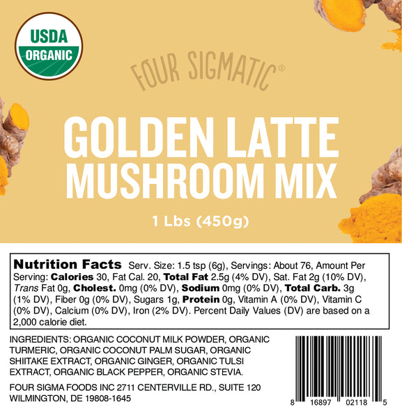 Bulk Golden Latte with Shiitake & Turmeric 1 lb bag (limit 10 units/order)