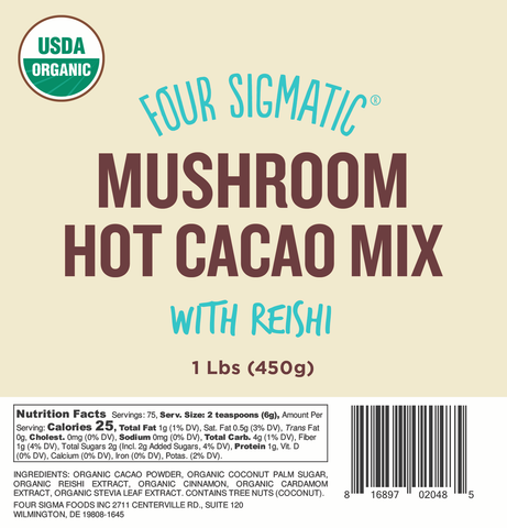 Bulk Reishi Hot Cacao 1 lb. Bag (Limit 10 units/order)