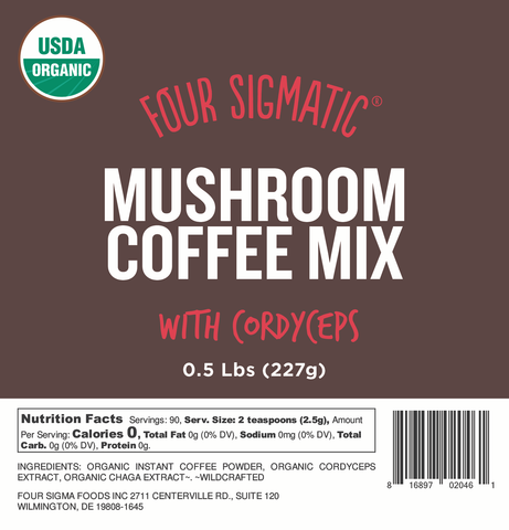 Bulk Mushroom Coffee with Cordyceps 1/2 lb. Bag (Limit 10 Units/Order)