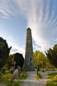 St Kevins Round Tower Glendalough - Michael Prior Photography