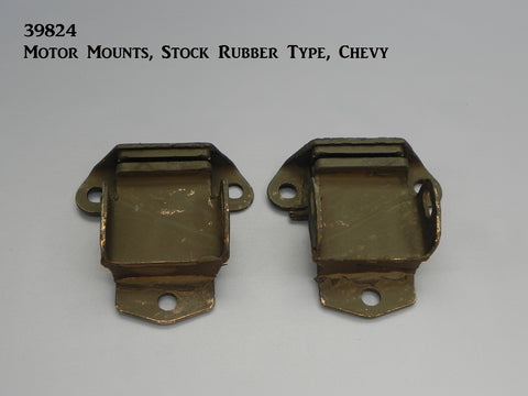 39824 Motor Mounts, Rubber, Stock Chevy Type