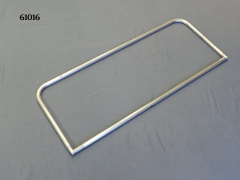 "61016P T-Windshield Frame, Polished, Full Frame, 16"" height, 40 1/8"" wide"