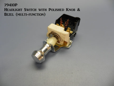 79410P Headlight Switch, with Polished Knob & Bezel (Multi-function)