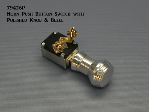 79426P Horn Push Button Switch, with Polished Knob