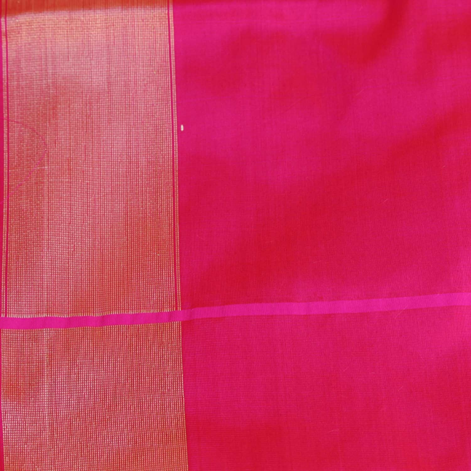 Rust-Indian Pink Shot Color Pure Katan Silk Banarasi Handloom Saree - Tilfi - 6