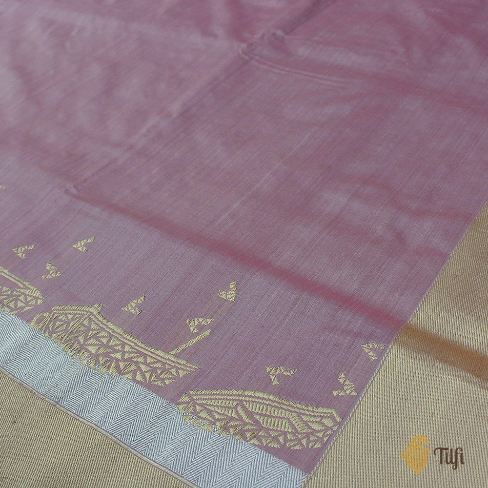 Pink Pure Katan by Chinia Silk Banarasi Handloom Saree