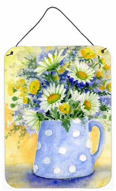 Buy this Blue and Yellow Flowers by Maureen Bonfield Wall or Door Hanging Prints BMBO0730DS1216