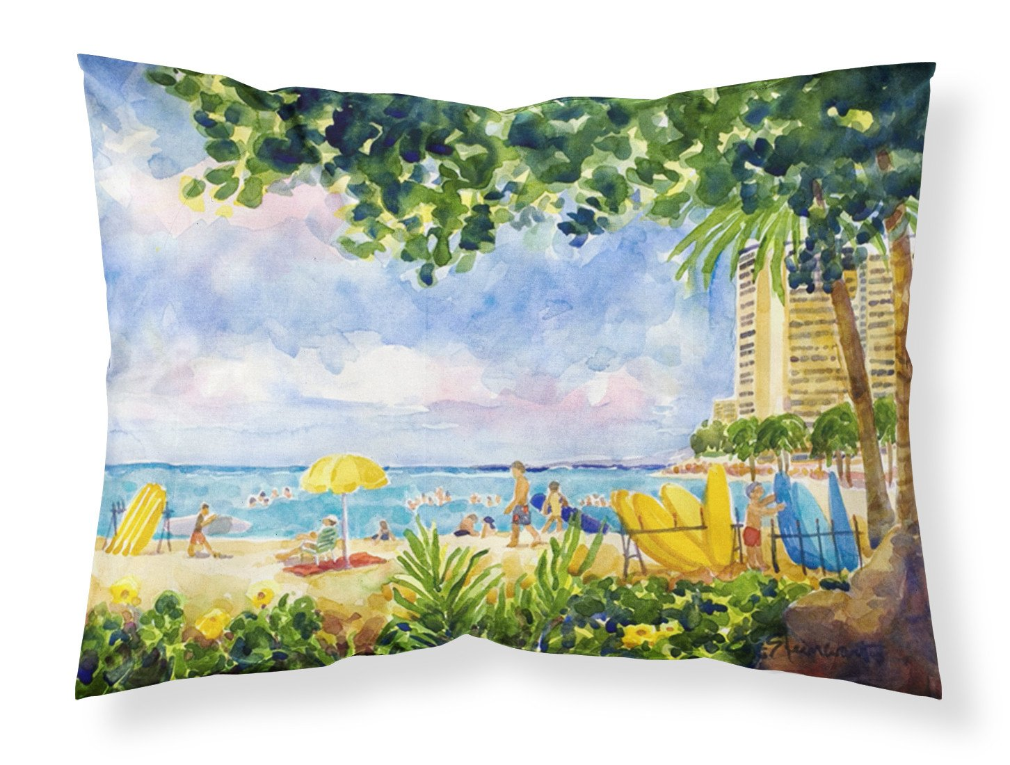 Buy this Beach Resort view from the condo  Moisture wicking Fabric standard pillowcase