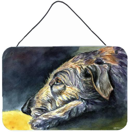 Buy this Irish Wolfhound Sleeper Wall or Door Hanging Prints 7353DS812
