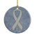 Buy this Clear Ribbon for Lung Cancer Awareness Ceramic Ornament AN1210CO1