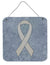 Clear Ribbon for Lung Cancer Awareness Wall or Door Hanging Prints AN1210DS66 - the-store.com