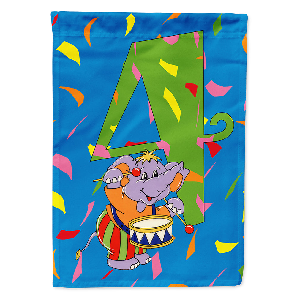 Buy this Happy 4th Birthday Age 4 Flag Canvas House Size APH2162CHF