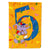 Buy this Happy 5th Birthday Age 5 Flag Canvas House Size APH2163CHF