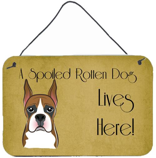 Buy this Boxer Spoiled Dog Lives Here Wall or Door Hanging Prints BB1471DS812
