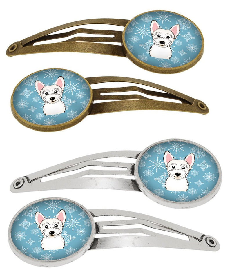 Buy this Snowflake Westie Set of 4 Barrettes Hair Clips BB1660HCS4
