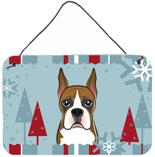 Buy this Winter Holiday Boxer Wall or Door Hanging Prints BB1719DS812