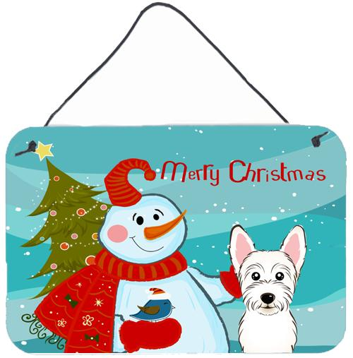 Buy this Snowman with Westie Wall or Door Hanging Prints BB1846DS812
