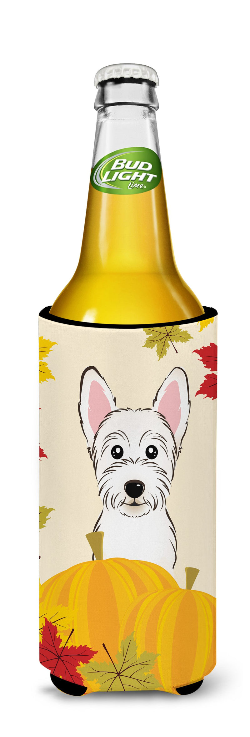 Buy this Westie Thanksgiving Michelob Ultra beverage Insulator for slim cans BB2032MUK