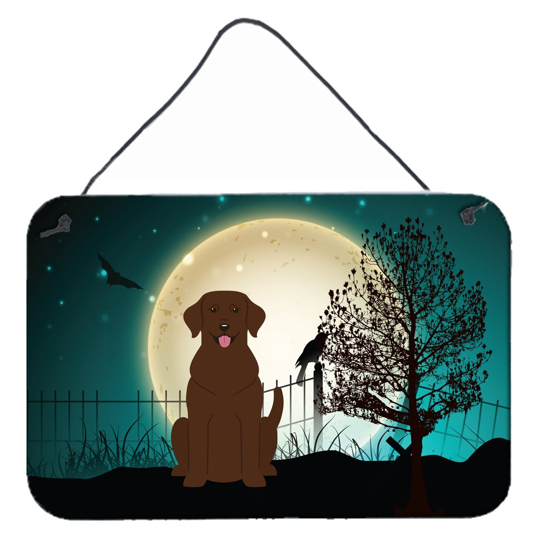 Buy this Halloween Scary Chocolate Labrador Wall or Door Hanging Prints BB2246DS812