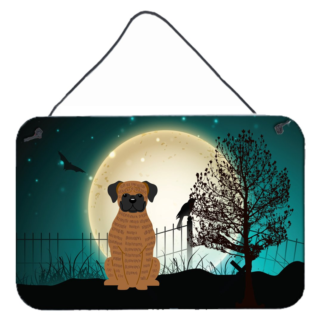 Buy this Halloween Scary Brindle Boxer Wall or Door Hanging Prints BB2307DS812