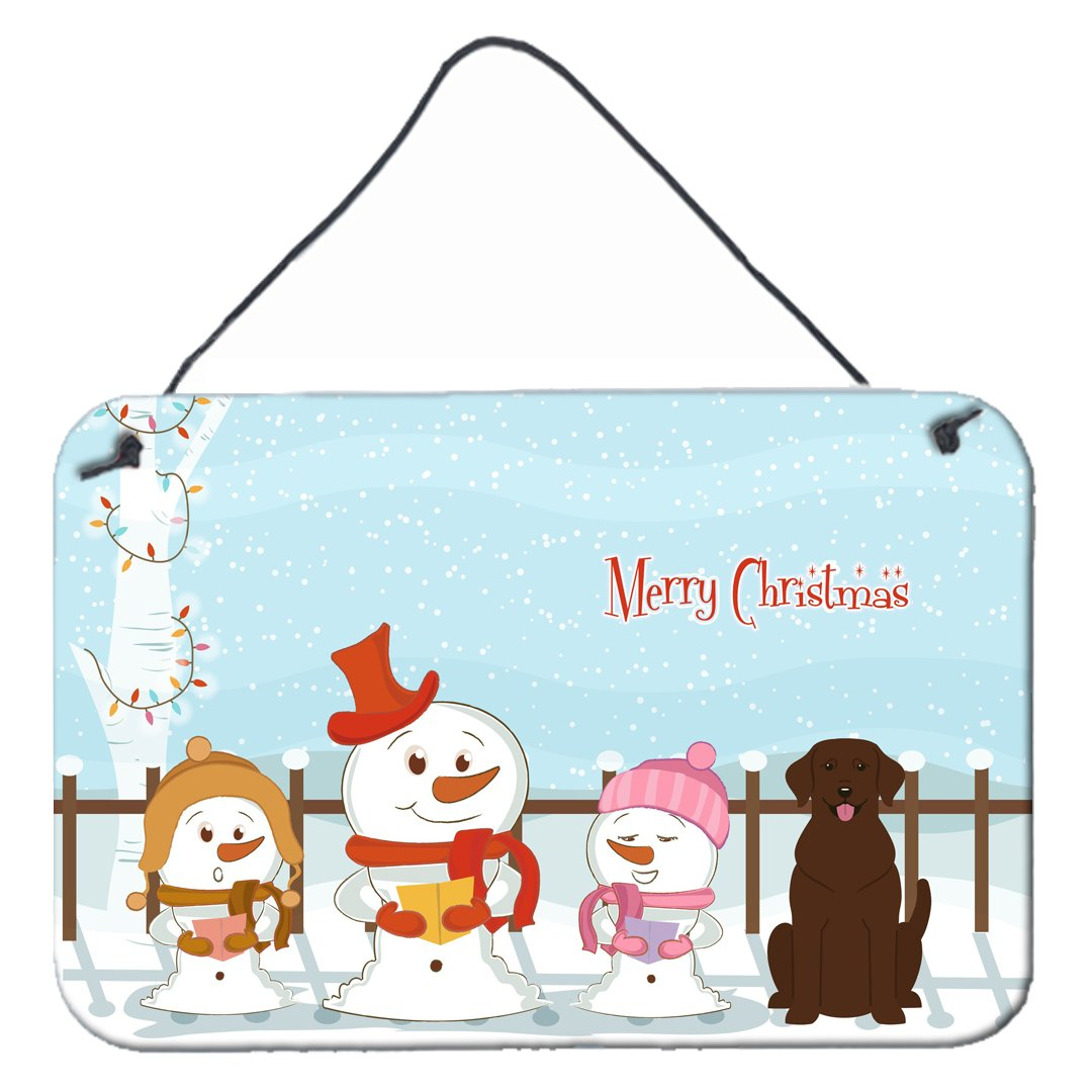 Buy this Merry Christmas Carolers Chocolate Labrador Wall or Door Hanging Prints BB2387DS812