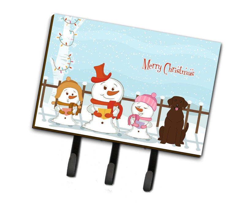 Buy this Merry Christmas Carolers Chocolate Labrador Leash or Key Holder BB2387TH68