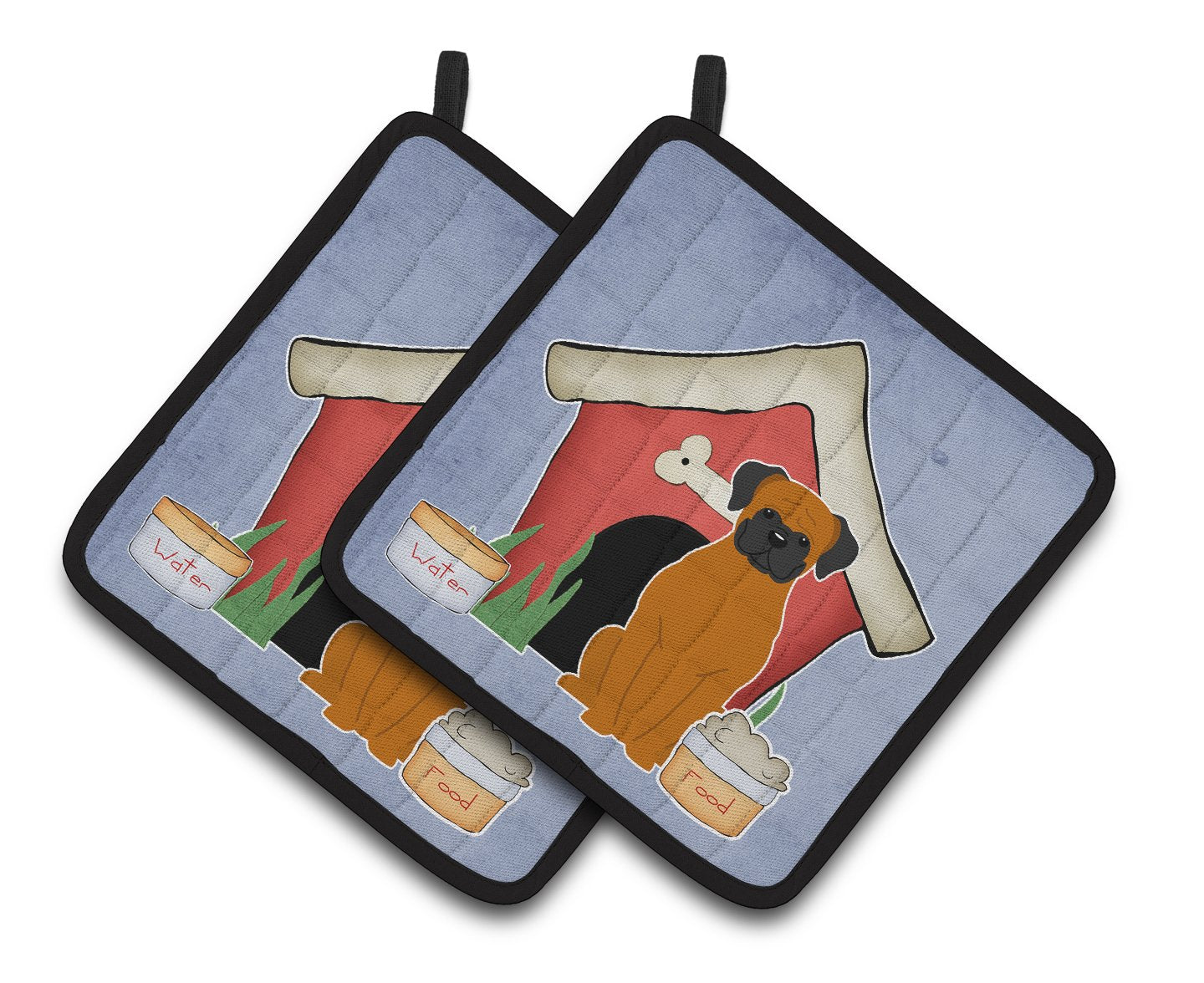 Buy this Dog House Collection Fawn Boxer Pair of Pot Holders