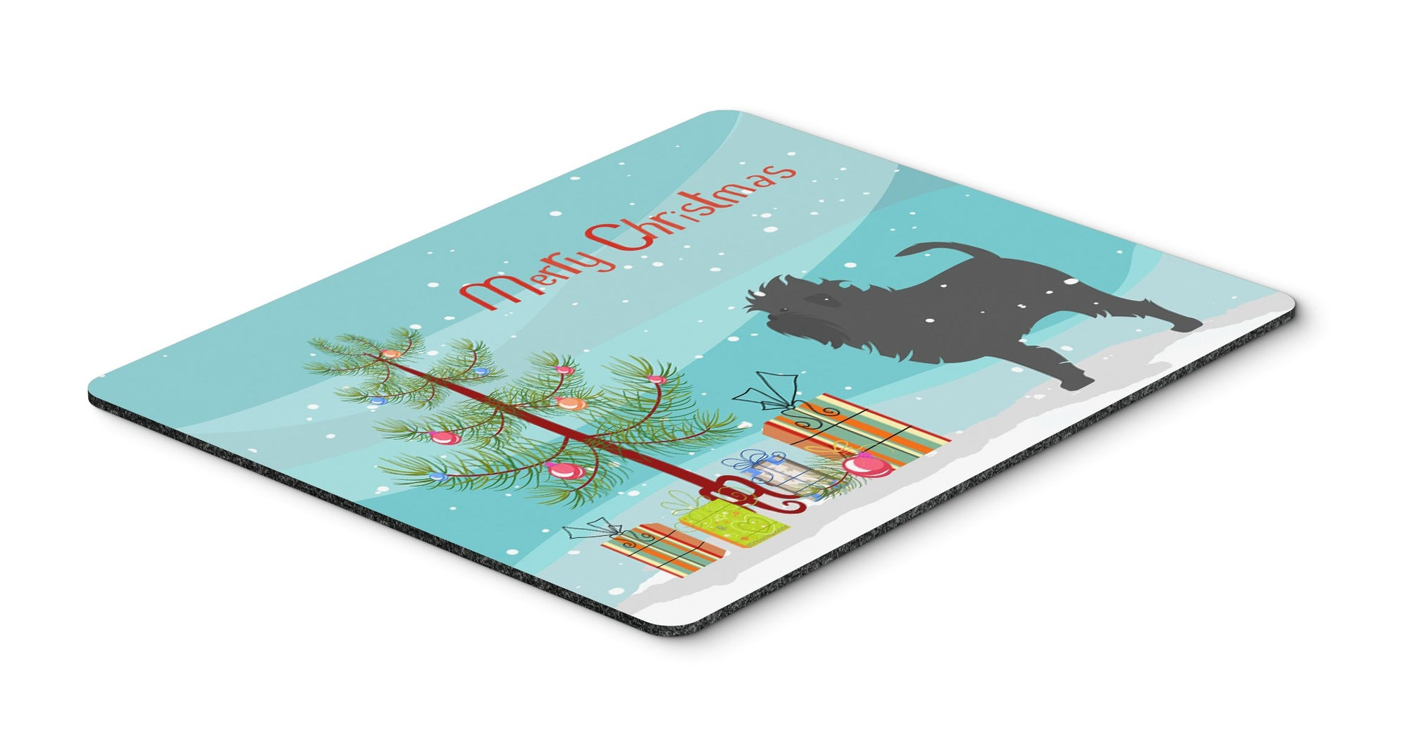 "Buy this ""Affenpinscher Merry Christmas Tree Mouse Pad, Hot Pad or Trivet"""
