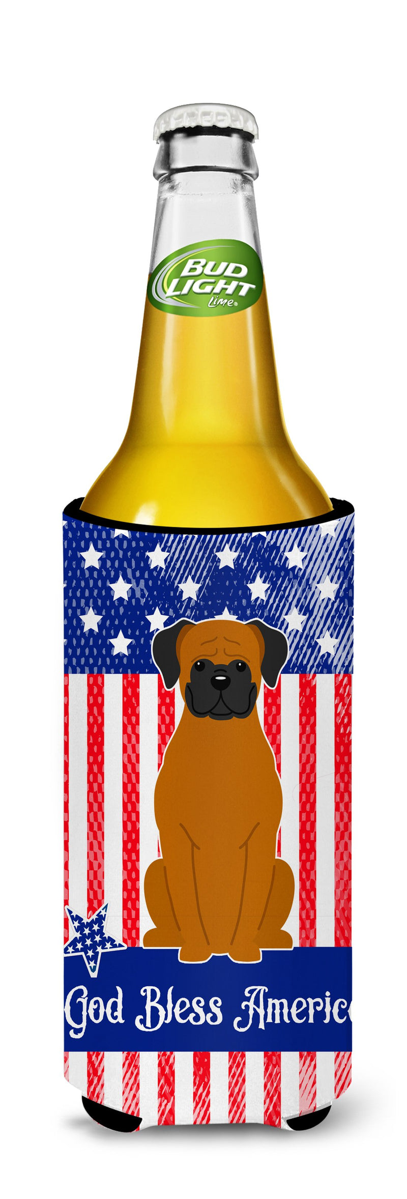 Buy this Patriotic USA Fawn Boxer Michelob Ultra Hugger for slim cans BB3110MUK