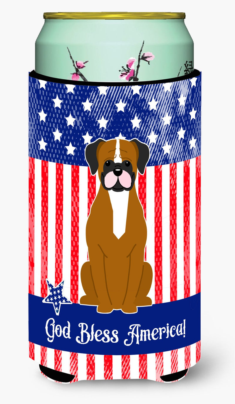 Buy this Patriotic USA Flashy Fawn Boxer Tall Boy Beverage Insulator Hugger