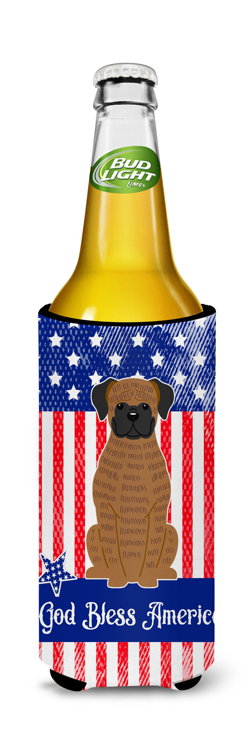 Buy this Patriotic USA Brindle Boxer Michelob Ultra Hugger for slim cans BB3112MUK