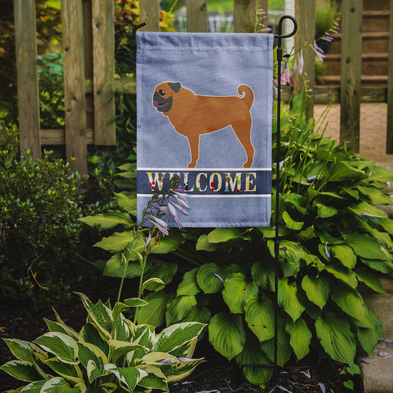 Buy this Pug Welcome Flag Garden Size BB5551GF