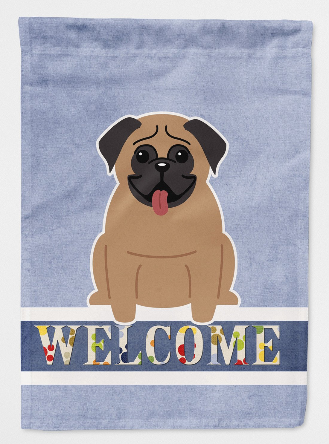 Buy this Pug Brown Welcome Flag Garden Size BB5586GF