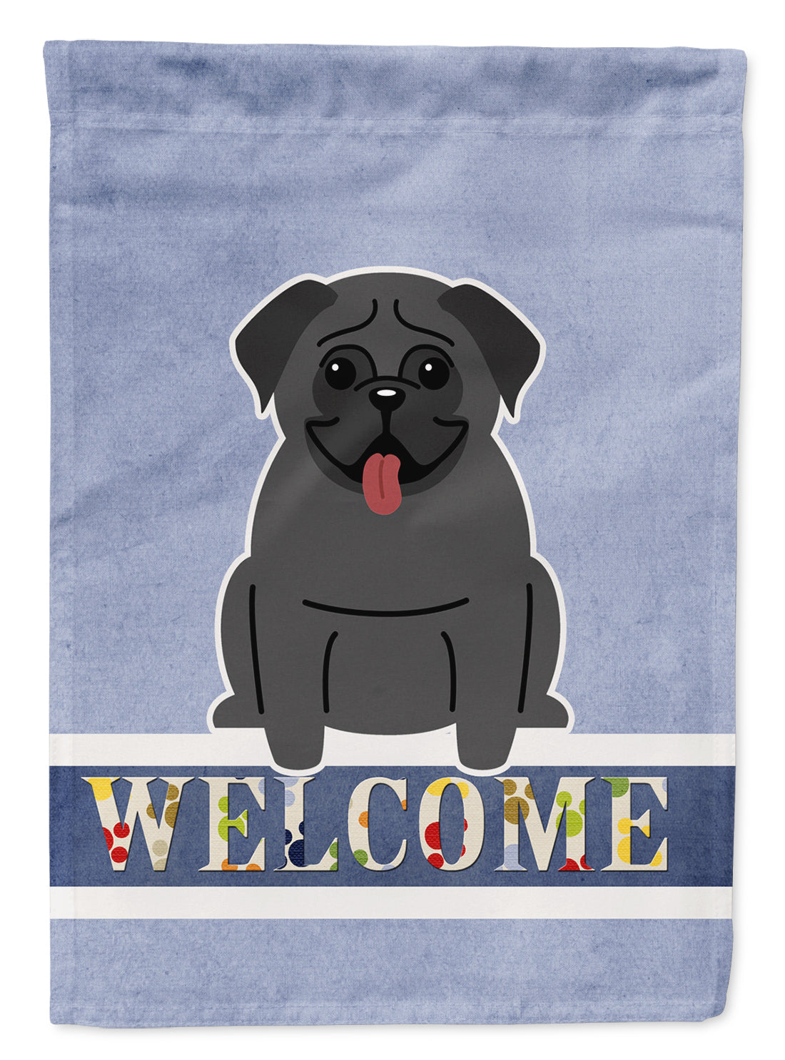 Buy this Pug Black Welcome Flag Garden Size BB5587GF