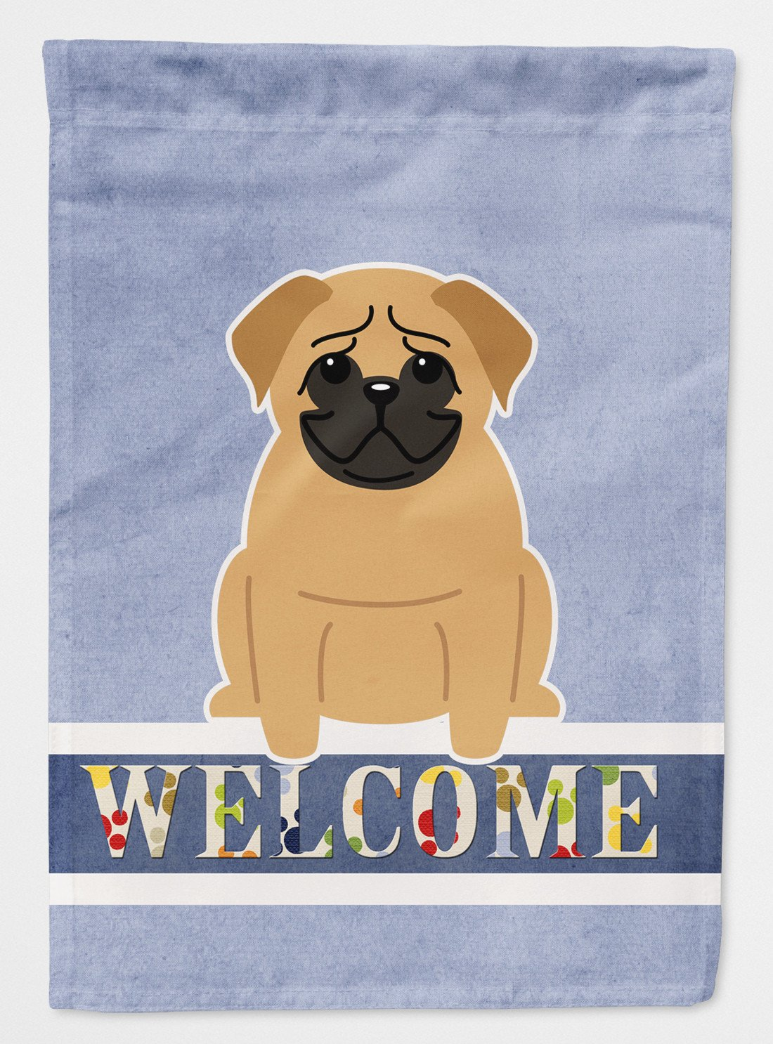 Buy this Pug Brown Welcome Flag Garden Size BB5588GF