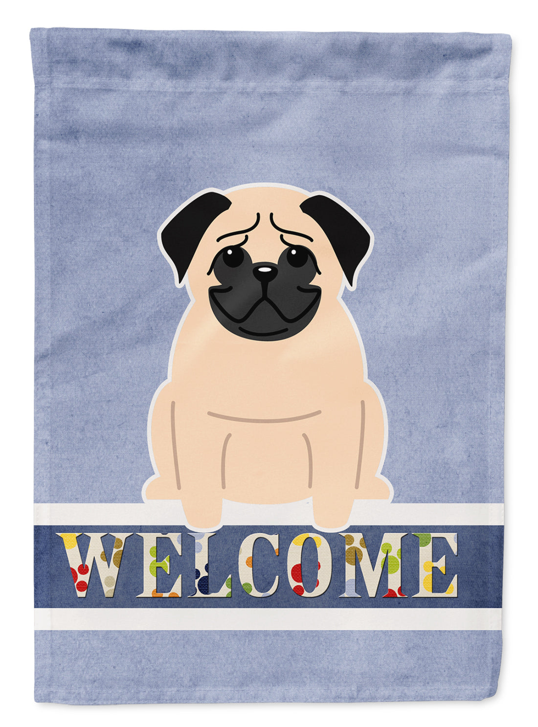 Buy this Pug Fawn Welcome Flag Garden Size BB5589GF