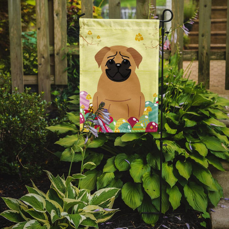 Buy this Easter Eggs Pug Brown Flag Garden Size BB6007GF