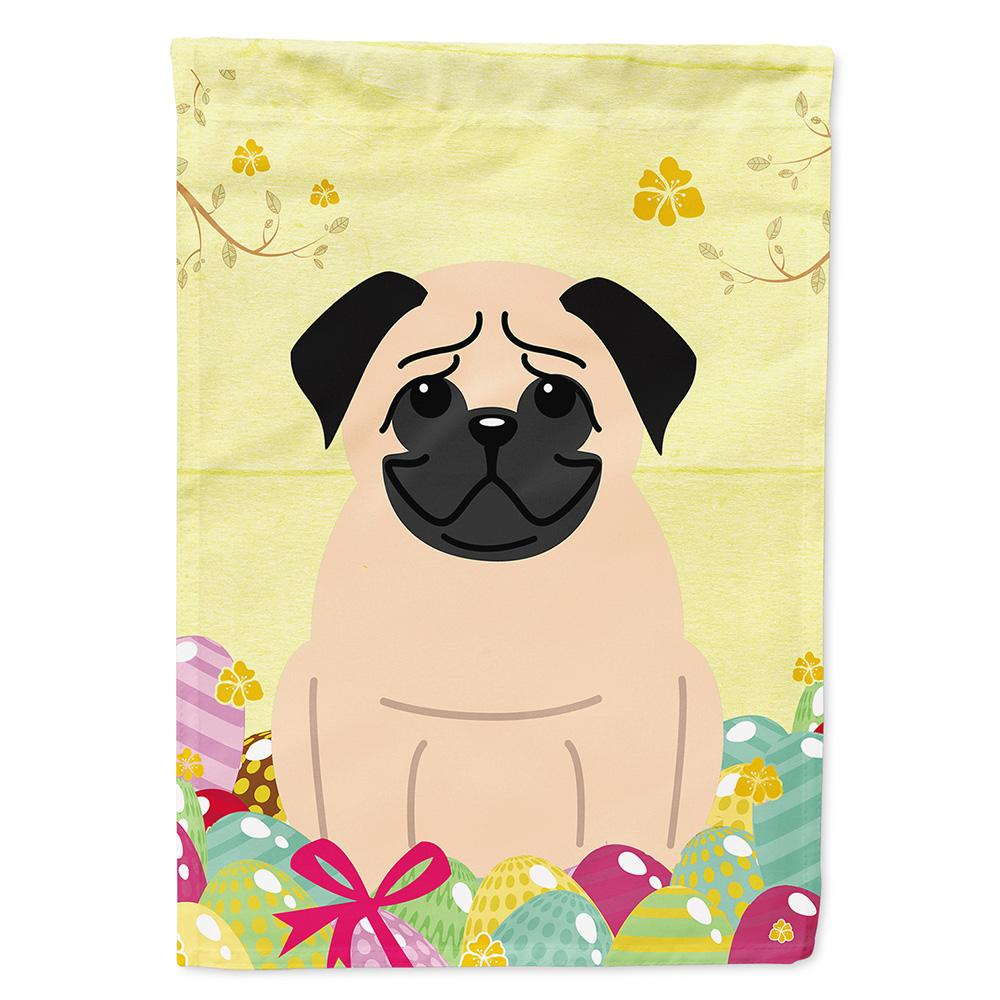 Buy this Easter Eggs Pug Fawn Flag Garden Size BB6008GF