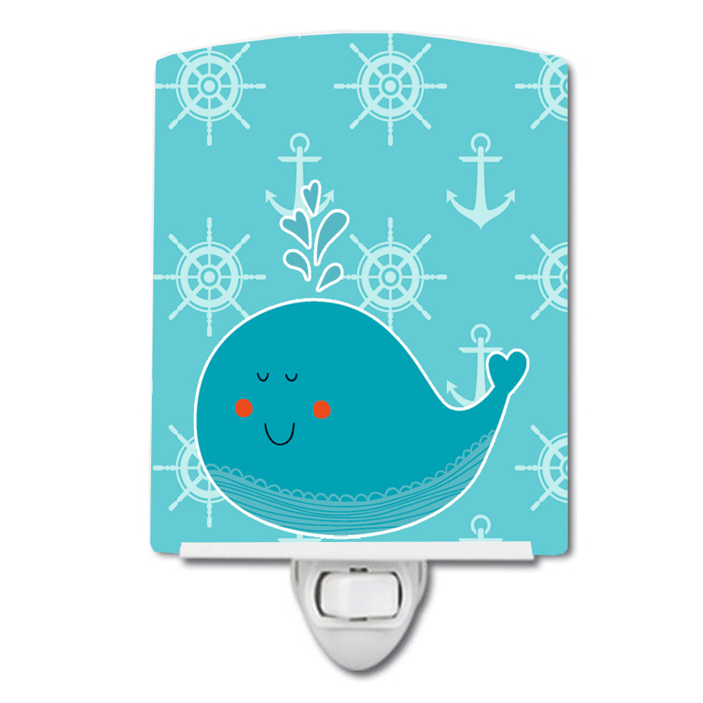 Buy this Whale with Anchors Ceramic Night Light BB6765CNL