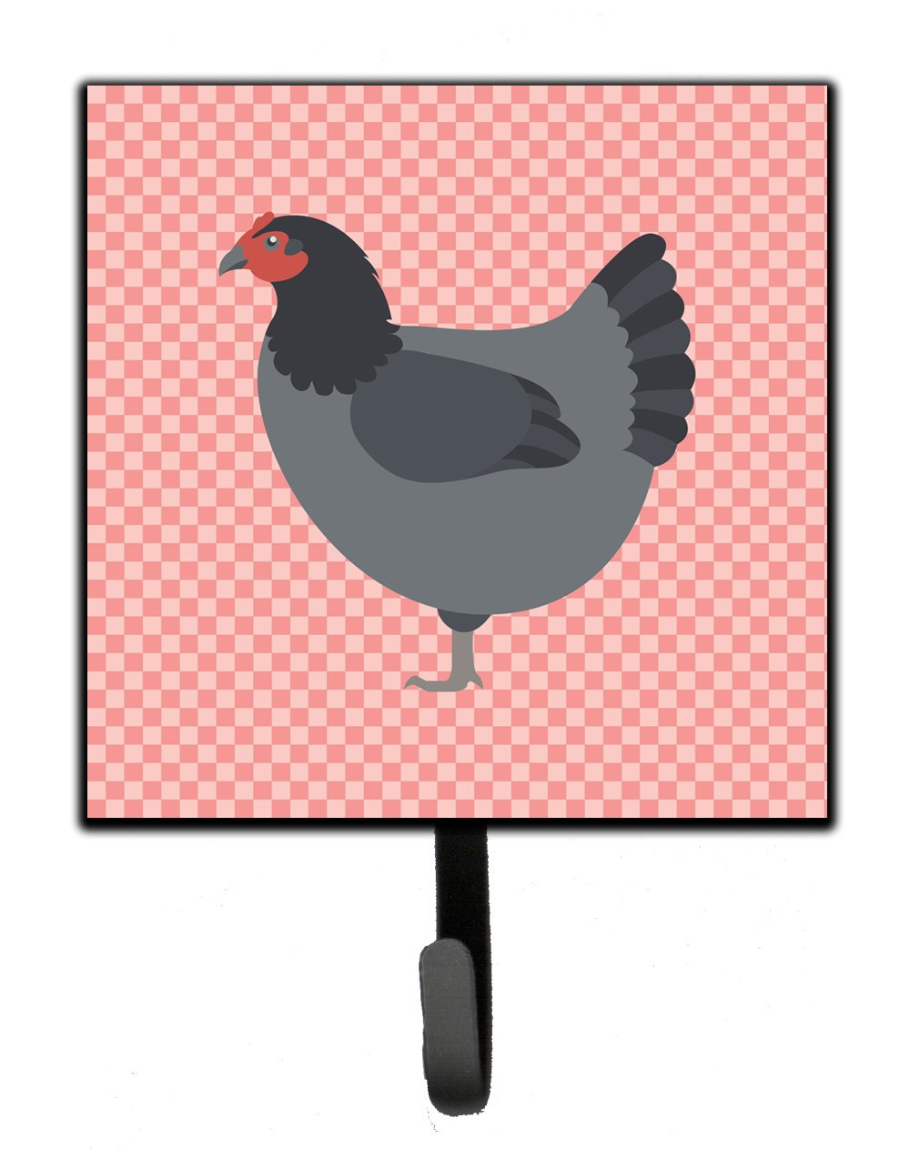 Buy this Jersey Giant Chicken Pink Check Leash or Key Holder